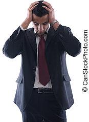 terneergeslagen, zakenmens
