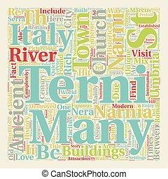 Terni Umbria text background wordcloud concept