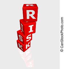 terning, hos, risiko, glose