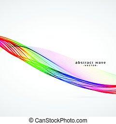 terrível, coloridos, onda, fundo, desenho