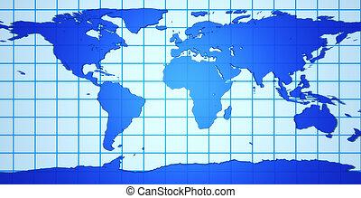 terra, 3d, mappa