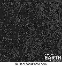 terra abstrato, vetorial, map., alívio