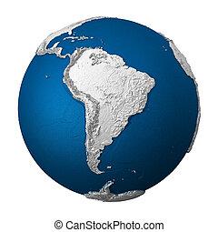 terra, américa, -, artificial, sul