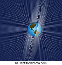 terra, anéis, radie, comunicação global