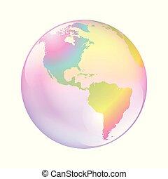 terra, bolla, mondo