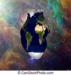 terra, cosmos, coração