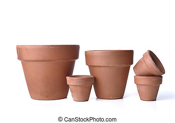 terra cotta, flowerpots