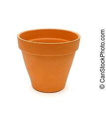 Terra Cotta Pot - Terra Cotta pot isolated on white.