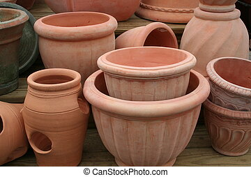 Terra Cotta Pots - Group of terra cotta pots
