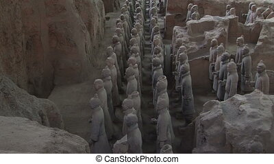 Terra Cotta Warriors in Profile - Terracotta Soldiers in...