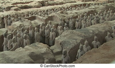 Terra Cotta Warriors - Terracotta Soldiers in Trenches,...