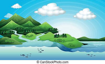 terra, e, água, recursos