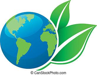 terra, ecologia, icona