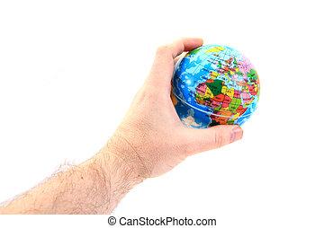 terra, em, a, mãos humanas