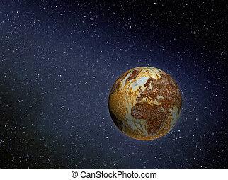 terra, Enferrujado, espaço