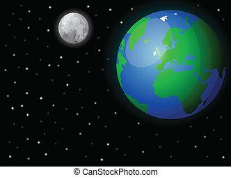 terra, espaço