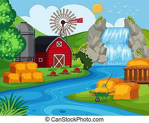 terra fazenda, cachoeira