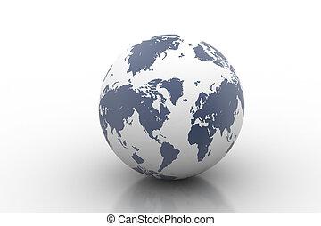 terra, -, globo