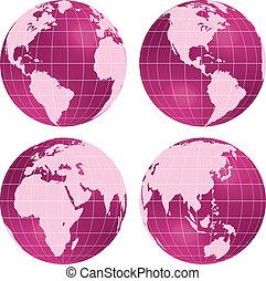 terra, globos