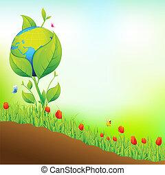 terra, jardim