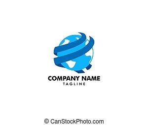 terra, modelo, logotipo