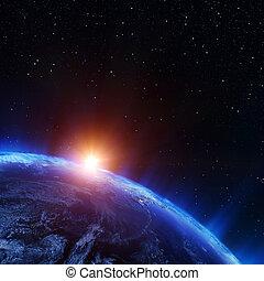 terra, norte, espaço