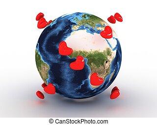 terra pianeta, cuori