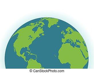 terra pianeta, icona