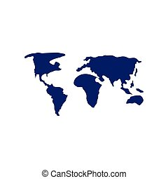 terra pianeta, mappa, icona