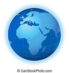 terra pianeta, mappa