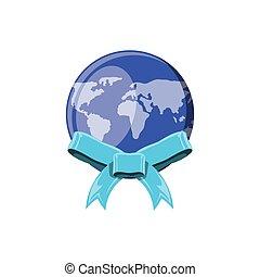 terra pianeta, nastro, mondo, arco