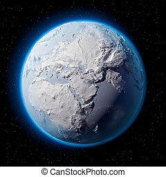 terra pianeta, neve