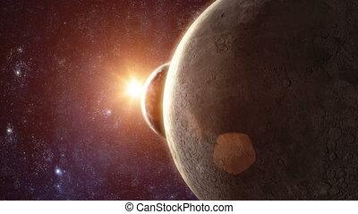 terra planeta, -, amanhecer, 03