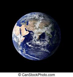 terra planeta, de, espaço