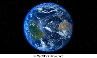 terra planeta, dramático, estrelas, volta