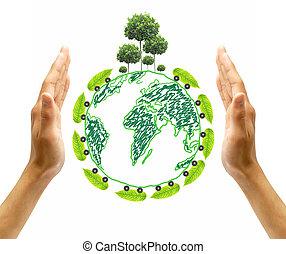 terra planeta, imagem, salvar, composição