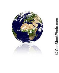 terra, planeta, isolat