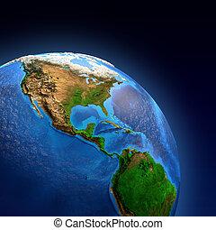 terra planeta, landforms