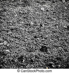 terra preta, textura, fundo