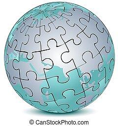 terra, quebra-cabeça, jigsaw