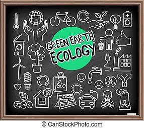 terra, set, ecologia, verde, scarabocchiare