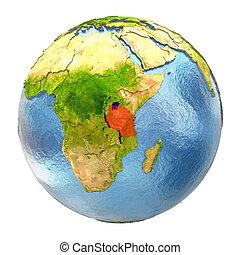 terra, tanzania, pieno, rosso