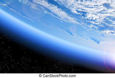 terra, vista, espaço