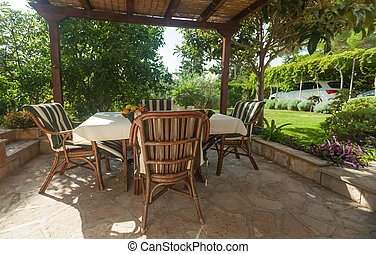 Terrace - Garden terrace in mediterranean style environment