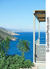 Terrace in Greek house