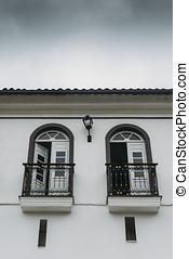Terrace in Ouro Preto, Minas Gerais, Brazil - Retro-style...