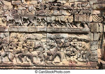 Terrace of the elephants, Angkor Thom