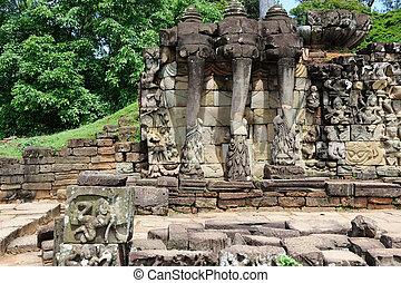 Terrace of the Elephants, Angkor Thom, Cambodia
