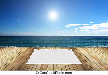 terrace on the sea