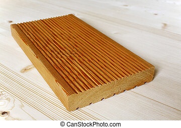 Terrace panel made from larch wood. - Special terrace panel...